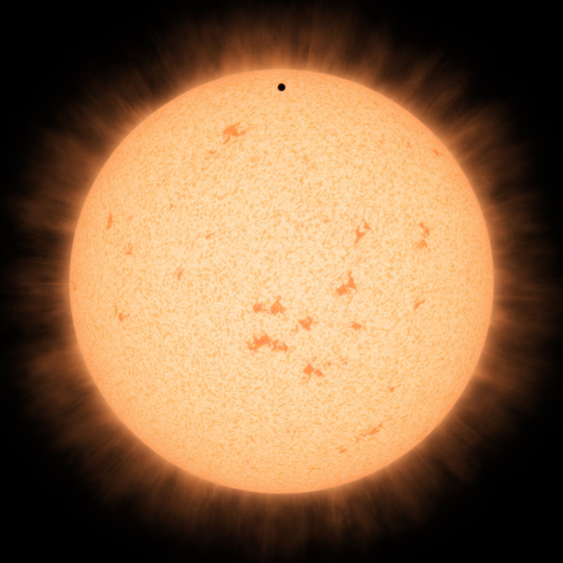 Little Black Spot on the Star Today (Artist's Concept)