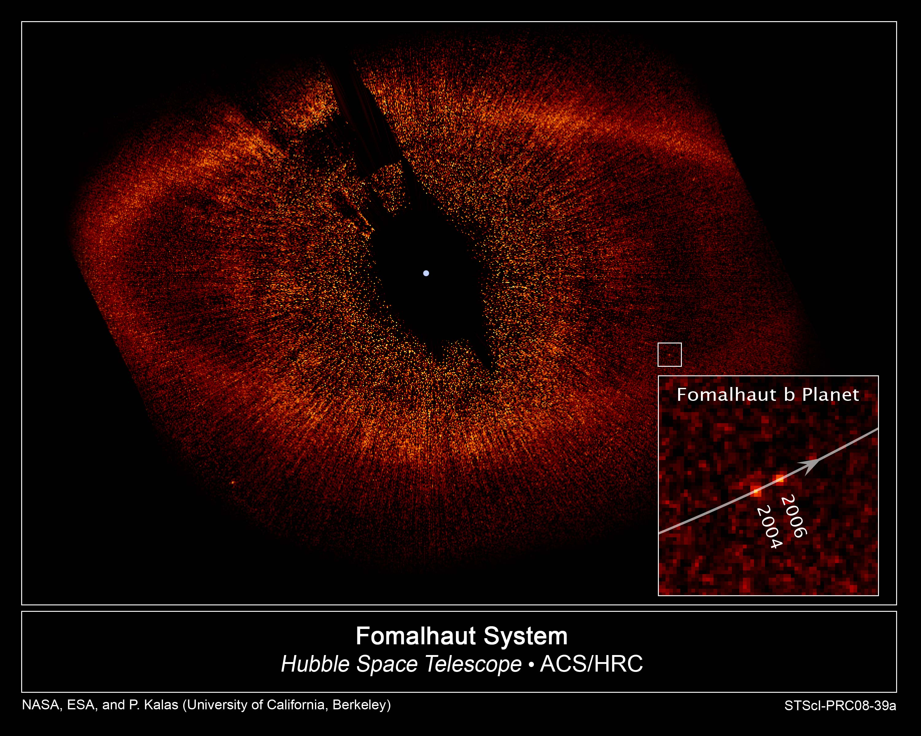 HST Image of Fomalhaut and Fomalhaut b