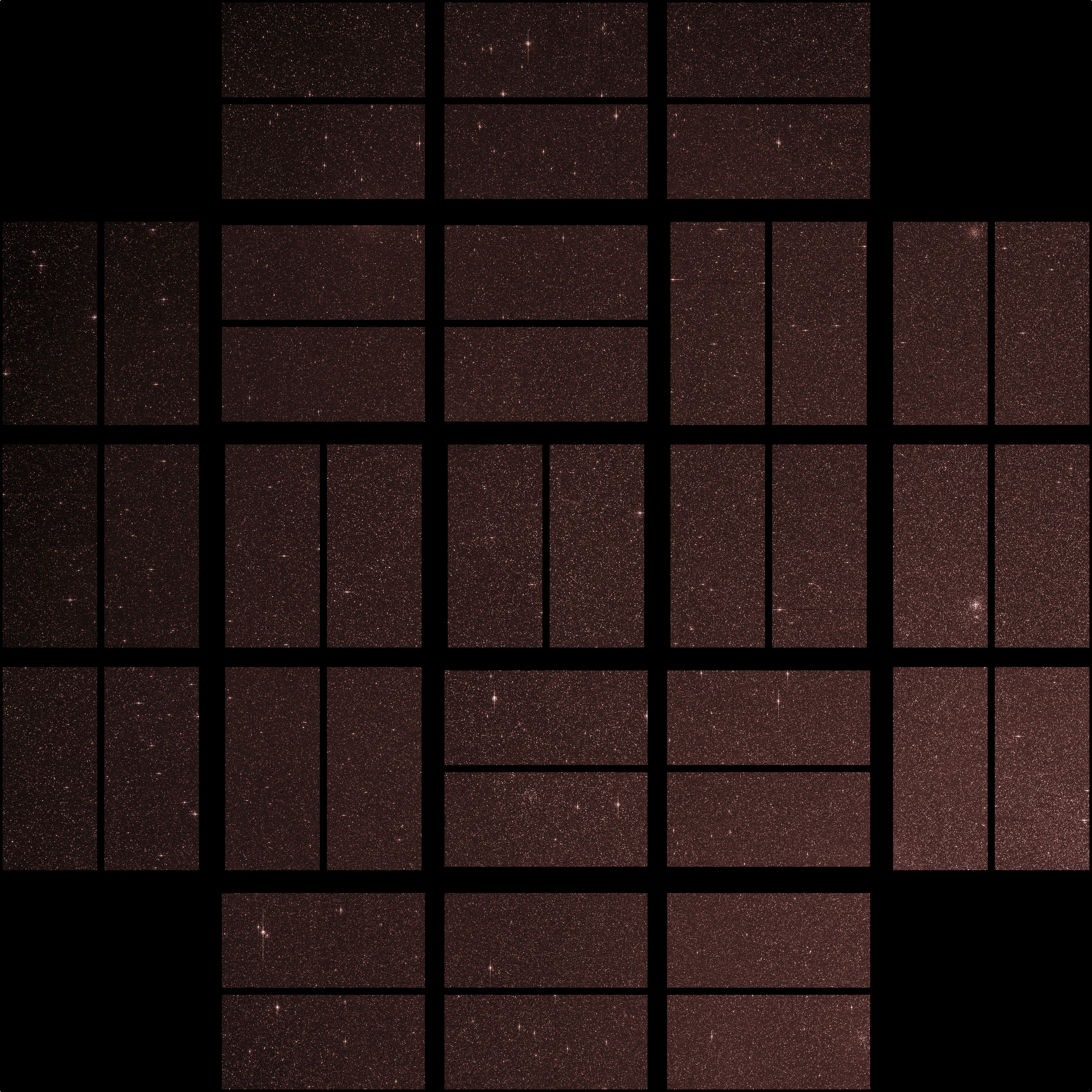 Full Focal Plane Image (First Light for Kepler Photometer)